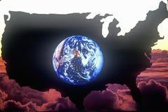 Continente de Estados Unidos Imagenes de archivo