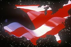Continente degli Stati Uniti Immagine Stock Libera da Diritti