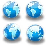 Continente del globo Fotografie Stock