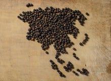 Continente del pepe nero Fotografia Stock