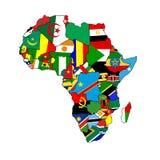 Continente dell'Africa Fotografia Stock