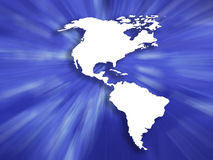 Continente dinâmico Imagem de Stock