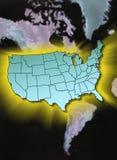 Continente Stati Uniti Fotografia Stock