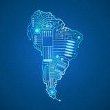 Continente Suramérica del contorno libre illustration