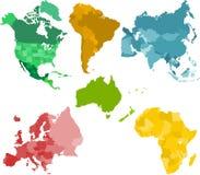 Continenten stock afbeelding