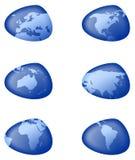 Continentes ilustração stock