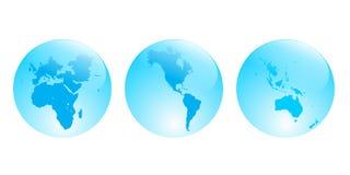 Continentes Imagen de archivo libre de regalías