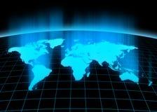 Continentes 3d Fotografia de Stock