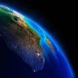 Continentes da terra imagens de stock royalty free