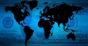 Continentes del dólar ilustración del vector