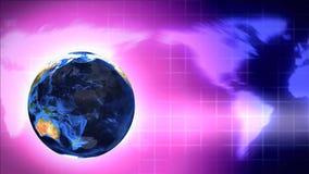 Continentes del globo del mapa de la tierra del mundo ilustración del vector