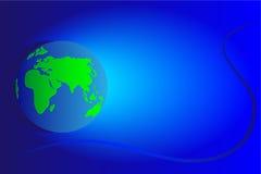 Continentes Europa e África Foto de Stock