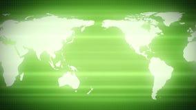 Continentes verdes de la tierra del mapa del mundo stock de ilustración