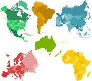 Continenti Immagine Stock