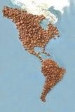 Continenti del caffè Fotografia Stock