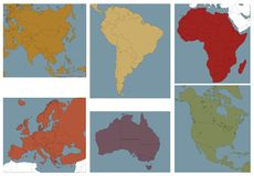 Continents. Stock Photos