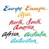Continents illustration stock