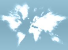 Continents. Against a grey-blue background vector illustration
