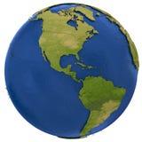 Continents américains sur terre Image libre de droits
