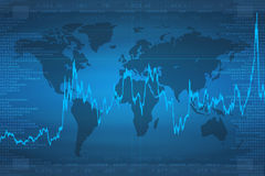 Continents (Business Graph) Stock Photos