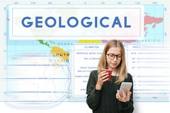 Continents Coordinates Exploration Geological Cartography Concep Stock Photo