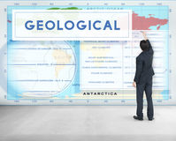Continents Coordinates Exploration Geological Cartography Concep Royalty Free Stock Photos