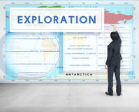 Continents Coordinates Exploration Geological Cartography Concep Royalty Free Stock Image