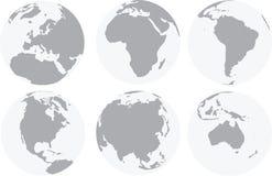 Continents du monde illustration de vecteur
