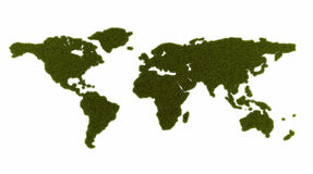 Continents of the globe from grass Stock Photography