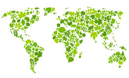 Continents of green leaves. Royalty Free Stock Images
