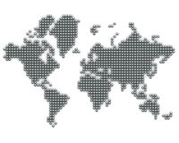 Continents made from silver balls Royalty Free Stock Photos