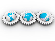 Continents mechanism Stock Photography