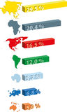 Continents statistics Stock Image