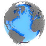 Continents surrounding the Atlantic Stock Photography