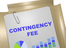 Contingency Fee - business concept Stock Images