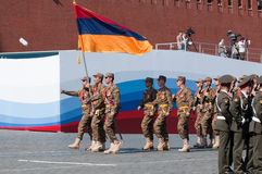Contingent from the Armenian military Royalty Free Stock Images