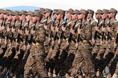 Contingent from the Armenian military Stock Photo