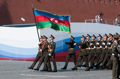 Contingent from the Azerbaijan military Stock Image