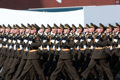 Contingent from the Azerbaijan military Royalty Free Stock Image