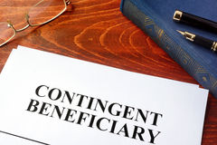Contingent beneficiary. Stock Photography