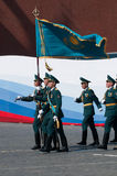 Contingent from the Kazakhstan military Royalty Free Stock Photography
