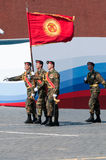 Contingent from the Kyrgyzstan military Royalty Free Stock Photos