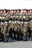 Contingent from the Kyrgyzstan military Stock Photos