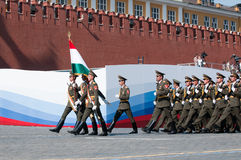 Contingent from the Tajikistan military Stock Image