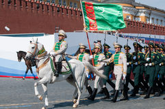 Contingent from the Turkmenistan military Royalty Free Stock Photo
