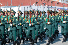 Contingent from the Turkmenistan military Stock Photos