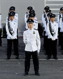 Contingente da guardar--honra da polícia em NDP 2009 Fotografia de Stock