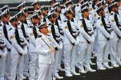 Contingente del guardar-de-honor de la marina Imágenes de archivo libres de regalías