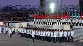contingentes del Guardar-de-honor en NDP 2009 Imagen de archivo libre de regalías