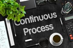 Continu proces - Tekst op Zwart Bord het 3d teruggeven Stock Fotografie